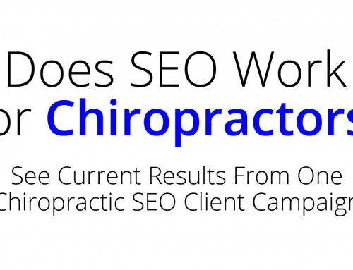 Does SEO Work For Chiropractors?